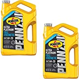Pennzoil 550045202 Ultra Platinum 5 quart 5W-20 Full Synthetic Motor Oil (SN/GF-5 jug) (2 Pack)