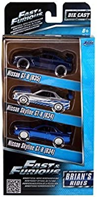 Jada 3-Pack Fast and Furious Brians Rides 1/55 Scale by: Amazon ...