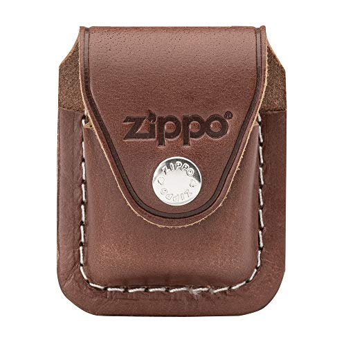 Zippo Leather Pouch - Zippo LPCB Lighter Pouch with Clip, Brown