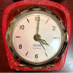 Vintage Peter 2 Jewels Alarm Clock - Made in Germany