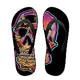Men Flash Skull Pattern Casual Unisex Soft Flippers Flip Flops