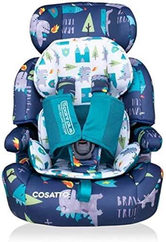 Multi-Colour 5.1 kg Cosatto Zoomi Group 123 Anti-Escape Carseat Dragon Kingdom