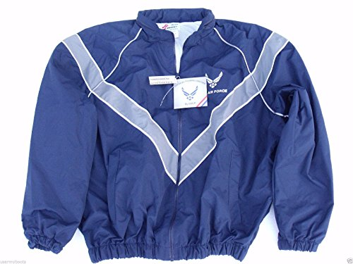 DSCP USAF Air Force Jacket Workout Jogging Windbreaker Blue Uniform Rain Coat PT USGI (Medium/X-Short)
