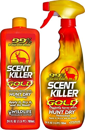 Best Buy! Scent Killer 1259 Wildlife Research Scent Killer Gold 24/24 Combo, 48 oz.
