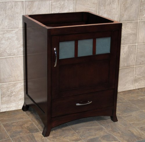 24 bathroom vanity solid wood cabinet black granite top vessel sink tr9 steam shower Solid wood bathroom vanities cabinets