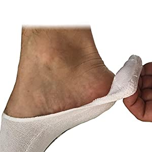 Stomper Joe Cushioned Mens Athletic Performance No Show Socks 3 Pck … (Large, White)