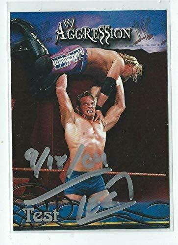Test Signed 2003 Fleer WWF Aggression Card #37 WWE - Autographed Wrestling Cards