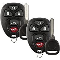 Discount Keyless Replacement Key Fob Car Remote and Uncut Transponder Key Compatible with 15913415, 25839476, ID 46 (2 Pack)