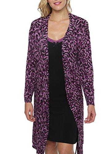 2 Piece Nightgown (kathy ireland Women's 2 Piece Robe & Chemise Nightgown Set Black)
