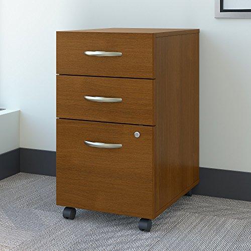 Bush Business Furniture WC67553 Series C 3 Drawer Mobile File Cabinet, Warm Oak For Sale