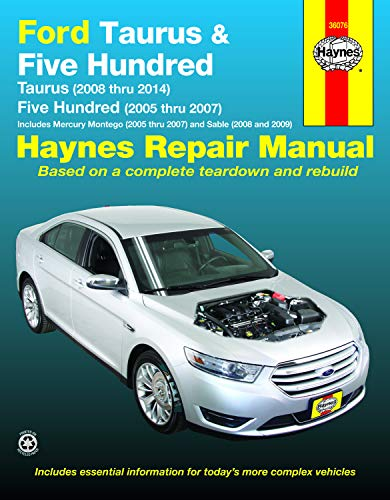 2013 Ford Police Car - Ford Taurus (08-14) & Five Hundred (05-07) & Mercury Montego (05-07) & Sable (08-09) Haynes Repair Manual (Does not include 3.5L twin turbo or police models.)