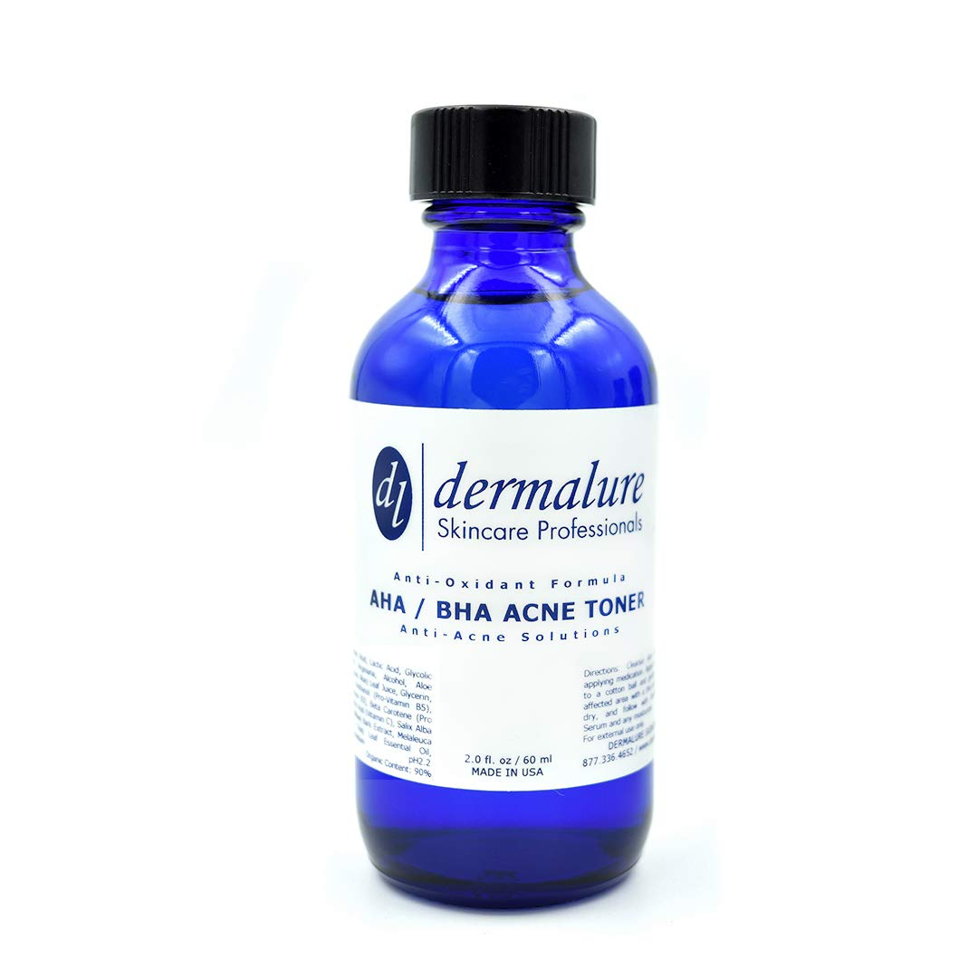 AHA / BHA Acne Toner Solutions with Ant-Oxidants Formula. Must Have Skincare for Oily and Acne Prone Skin. 90% ORGANIC for Refining, Restoring, Clarifying Skin. Anti-Acne Solutions with 2% Salicylic Acid, 2% Lactic Acid, 2% Glycolic Acid, Ascorbic Acid , Niacinamide, Tea Tree & More ( 2% Beta Hydroxy Acid, 2% Alpha hydroxy Acid - Anti-Acne Medic 2.0 fl oz / 60 ml )