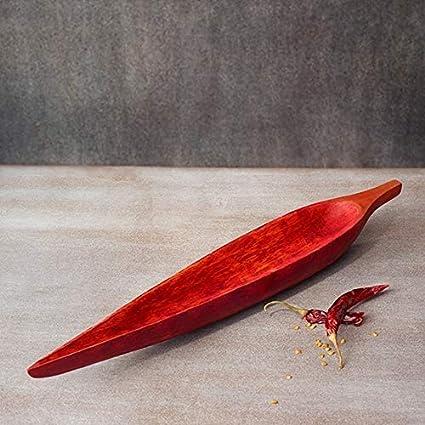 Chili Shaped Mango Wood Platter 15.5