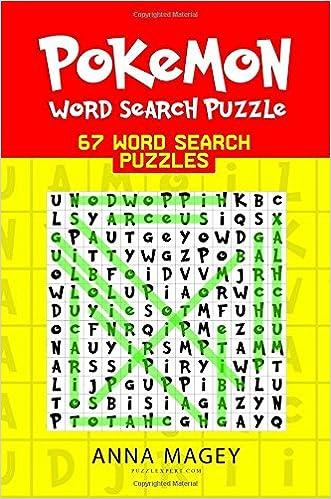 Pokemon Word Search Puzzle: 67 Word Search Puzzles (Pokemon Puzzle Book)  (Volume 1): Anna Magey: 9781984190284: Amazon.com: Books