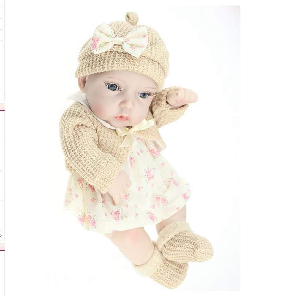Hongge Reborn Baby Doll,Vollen weichem Silikon Tasche Reborn Puppe-cm niedlich realistische Baby Badespielzeug