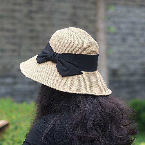 Pyip Mariposa B Pescador Solar Sombrero De Gorra Nudo Femenina Paja Femenino Campana O0HOTqwrx