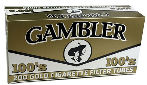 Gambler Gold/Light 100s Size RYO Cigarette Tubes 200ct Box (5 Boxes)
