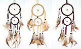Set of 3 Handmade Dream Catcher With Feathers Wall Hanging Decoration Ornament Gift (LS01510)