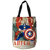 BB Designs Marvel Decadent Capt'n America Canvas Shopper Tote Bag
