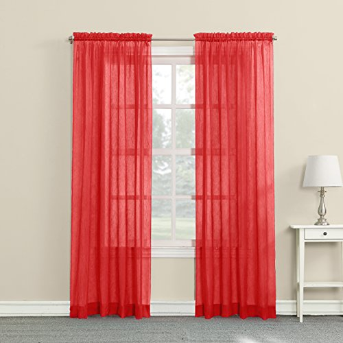 No. 918 Erica Crushed Texture Sheer Voile Curtain Panel, 51