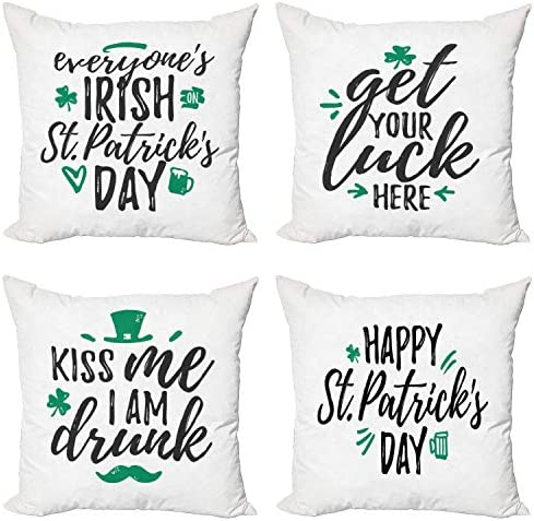Tamengi St. Patricks Day Throw Pillow Cushion Case Pack of 4 ...