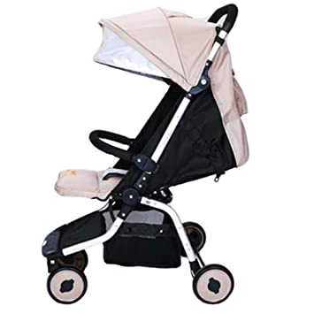 GKBMSP Cochecito de bebé Ligero y Compacto Cochecito de bebé Plegable con Asiento reclinable Plegado con