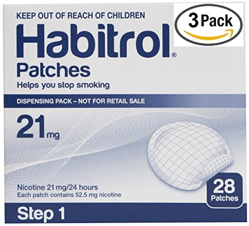 - Novartis Habitrol 21mg Nicotine Patches, Step 1. Stop Smoking. 3 boxes of 28 each (84 patches)