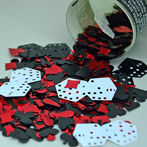 Confetti Mix - Dice, Card Suit, Casino Mix - Retail Pack #9133 - Free Ship -