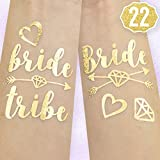 xo, Fetti 22 Bride Tribe Flash Tattoos - Gold | Bachelorette Party Decorations, Bridesmaid Gift + Bride To Be Favor