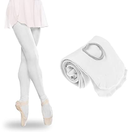 7c51cb12472fe Women Ballet Tights, Children's Girls and Ladies Ballet Dance Tights Footed  Seamless Dancewear New(S,White): Amazon.in: Home & Kitchen