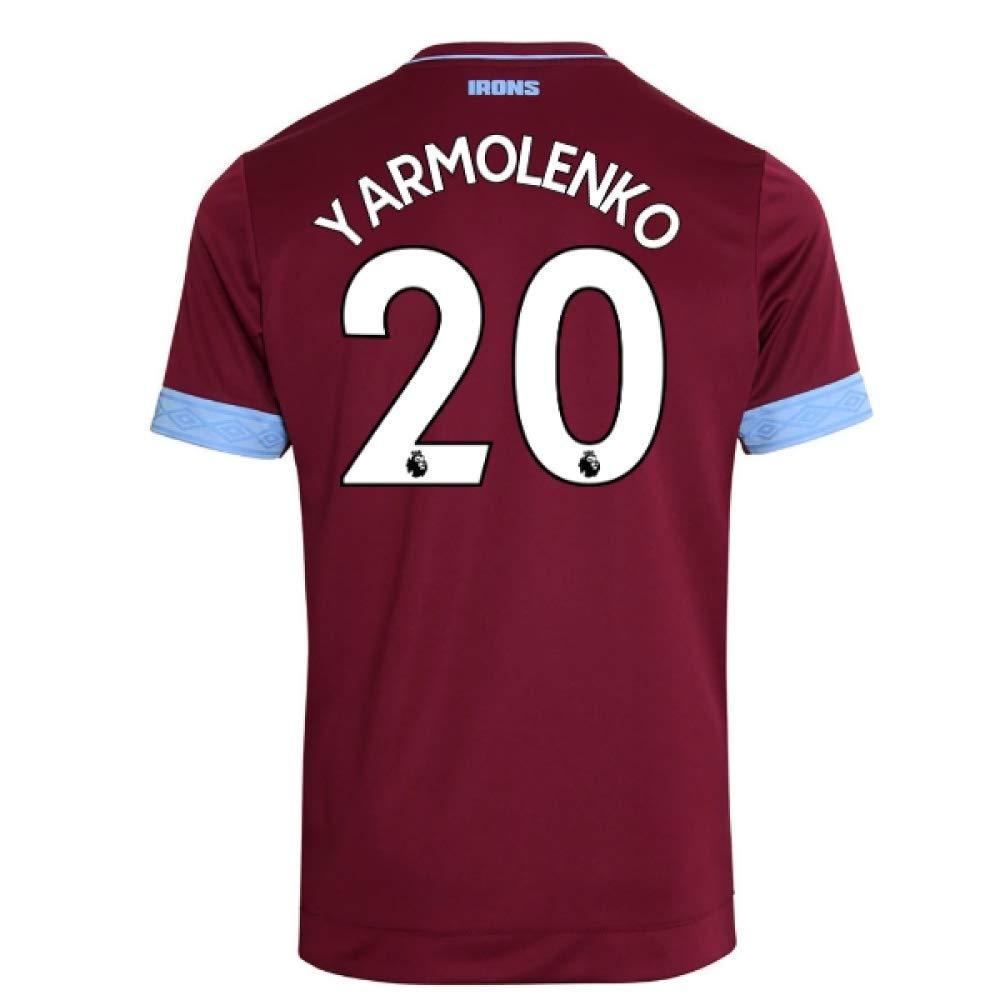 2018-2019 West Ham Home Football Soccer T-Shirt Trikot (Andriy Yarmolenko 20)