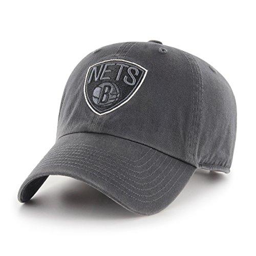 Brooklyn Team Baseball (NBA Brooklyn Nets OTS Challenger Adjustable Hat, Dark Charcoal, One Size)