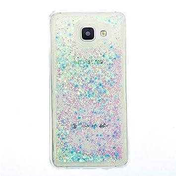 Anfire Funda para Samsung Galaxy A5 2016 Carcasa Glitter Silicona Líquido Arenas Movedizas Bling TPU Case Transparente Cubierta Caja Claro Cristal ...