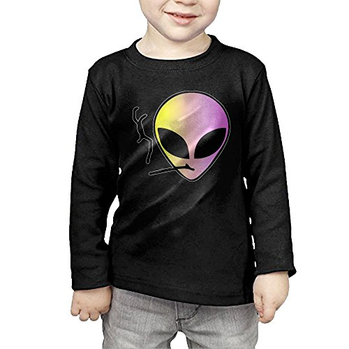 Alien Smoke Laser Kids Children Unisex Long Sleeve Cotton Crew Neck T-Shirt Tee 3 Toddler