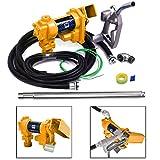 JAXPETY Gasoline Fuel Transfer Pump 12 Volt DC 20GPM Gas Diesel Kerosene Nozzle Kit