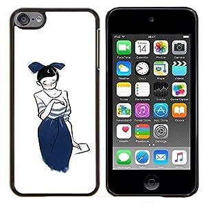 EJOOY---Cubierta de la caja de protección para la piel dura ** Apple iPod Touch 6 6th Touch6 ** --Lindo Anime japonés Princesa