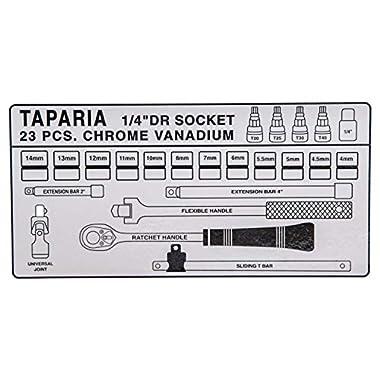 Taparia S1/4H 1/4-Inch Square Drive Socket Set 8