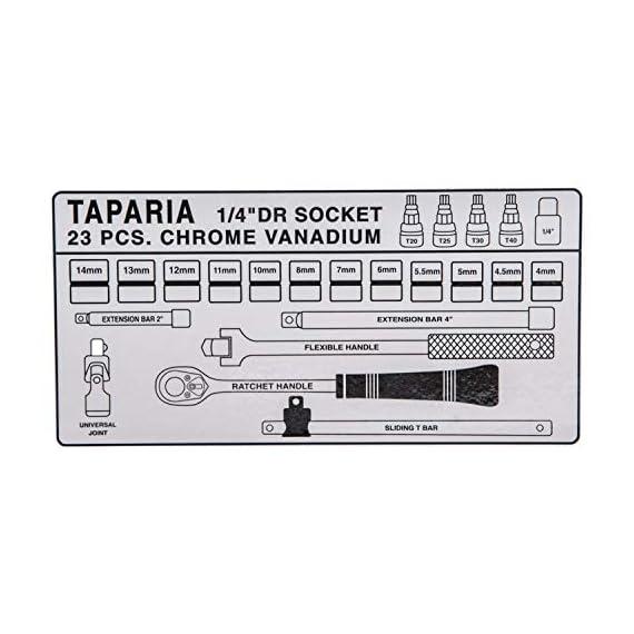 Taparia S1/4H 1/4-Inch Square Drive Socket Set 3