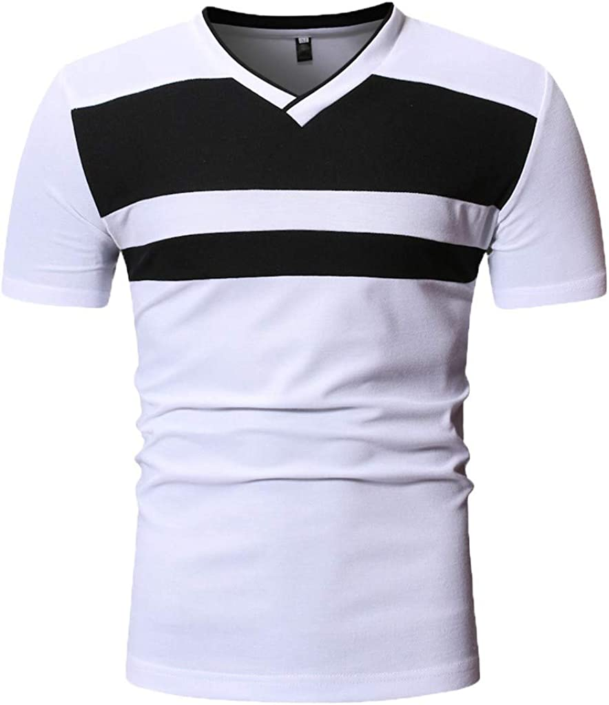 waotier Camiseta De Manga Corta para Hombre Camiseta Casual De Cuello En V Ropa De Verano De Moderno: Amazon.es: Ropa y accesorios