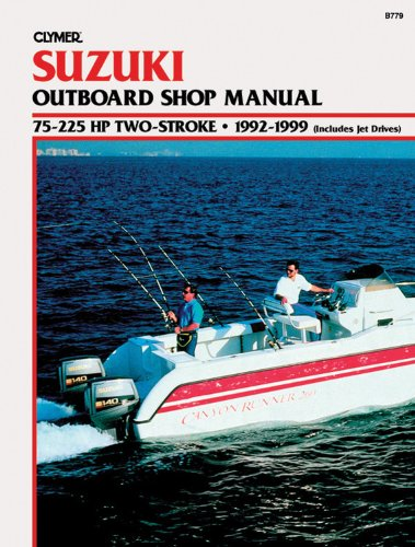 Suzuki Outboard Shop Manual: 75-225 Hp Two-Stroke : 1992-1999 (Includes Jet Drives) (1997 Outboard Repair Manual)