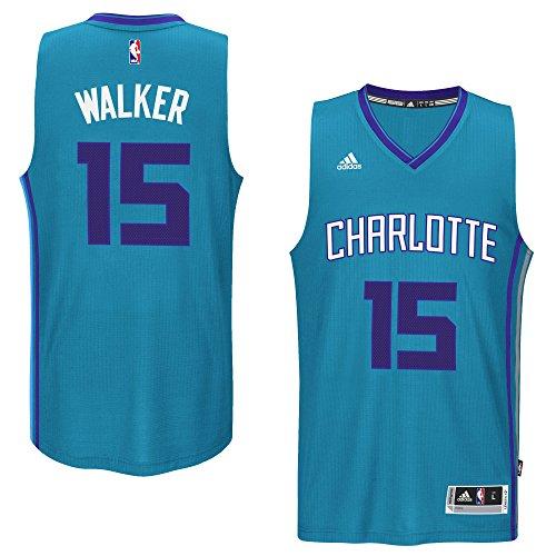 adidas Kemba Walker Charlotte Hornets #15 Teal NBA Youth Swingman Alternate Jersey (Large 14/16)