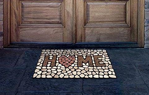 Home Stones Door Mat, home love you - Color Door Mat