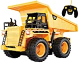 remote control backhoe - Top Race TR-112 5 Channel Fully Functional RC Dump Truck with Lights and Sound