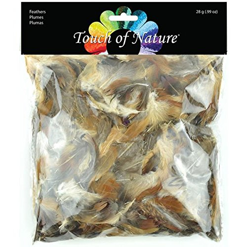 Price comparison product image Touch of Nature 39917 Feather Value Pack Natural Mix for Arts and Craft,  28gm