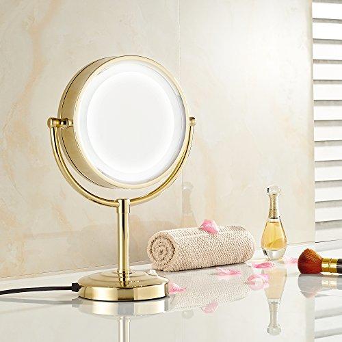 Gold Makeup Mirror Lighted Saubhaya Makeup