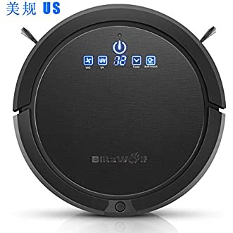 Robot Vacuum Cleaner, BlitzWolf Ultrasonic Smart Rechargable Automatic Robot Cleaner with UV Sterilization, Auto-Charger Docking, Auto-Detection, and Scheduled Activation IOS/Android APP WIFI Control