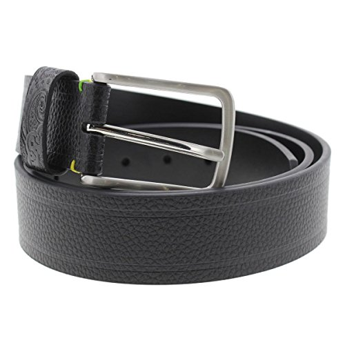 Robert Graham Mens Grass Pebbled Faux Leather Casual Belt Black 36 - Leather Pebbled Buckle Belt