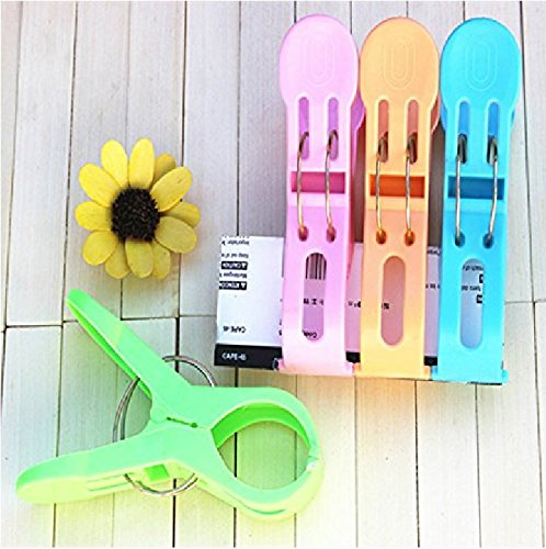 Nalmatoionme 4pcs Big Multipurpose Peg Beddable Quilt Sheet Clip Racks Clip(Random Color) IFMSSVHU13586