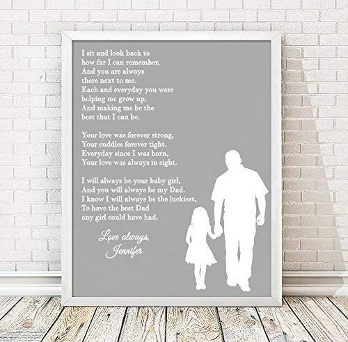 Dad Poem Framed Print | Daughter or Son | Personalized Dad Gift | Personalized Fathers Day | Gift For Dad | Gift For Him | Dad Present | Fathers Day Gift
