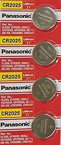 Panasonic CR2025-4 CR2025 3V Lithium Coin Battery (Pack of 4)